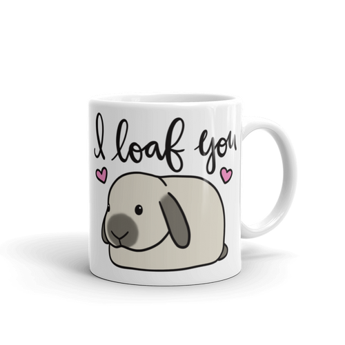 Custom Color I Loaf You Mug