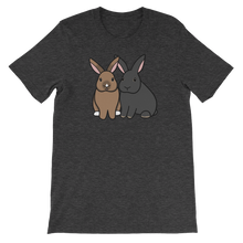 Two Sitting Bunnies Unisex T-Shirt