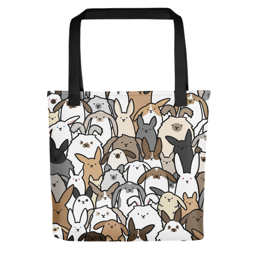 Bunnies Everywhere Colored Tote bag