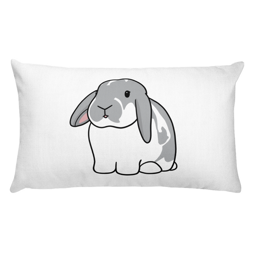 Grey Lop Bunny Rectangular Pillow