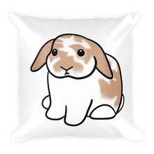 Orange White Lop Square Pillow