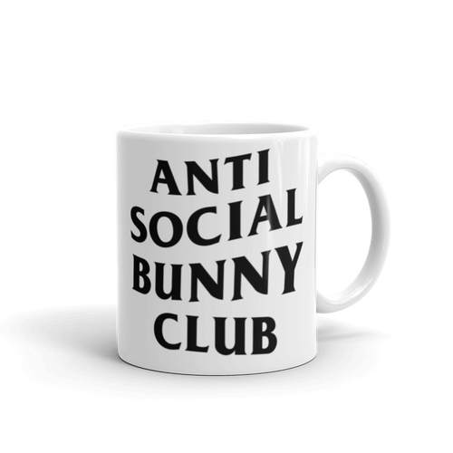 Anti Social Bunny Club Mug (Black)
