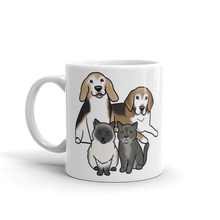 Two Beagles Two Cats Mug