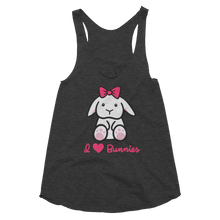 I Loves Bunnies Women's Racerback Tank