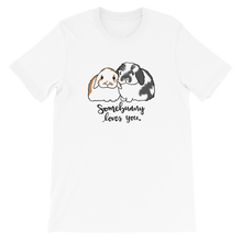 Somebunny Loves You Fuzzy Lop Unisex T-Shirt (2XL)