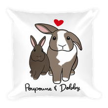 Poupoune and Dobby Square Pillow
