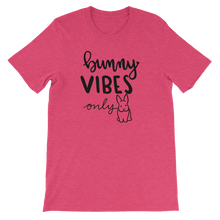 Bunny Vibes Only Unisex T-Shirt (Uppy Ears Light Colors)