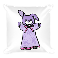 Lavender Bunbun Square Pillow