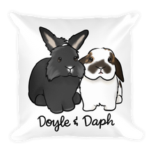 Doyle And Daph Square Pillow