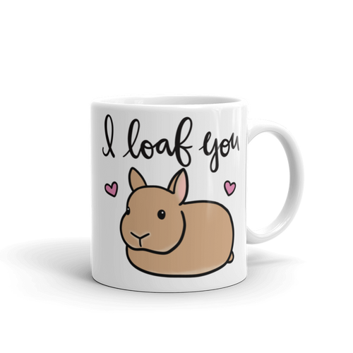 Netherland Dwarf I Loaf You Mug