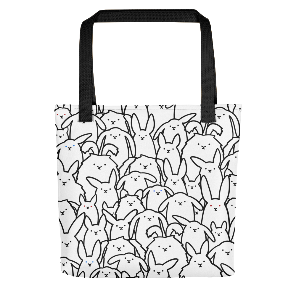Bunnies Everywhere Monochrome Tote bag