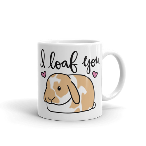 Custom I Loaf You Mug (Orange)