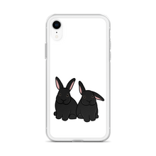 Two Black Bunnies iPhone Case