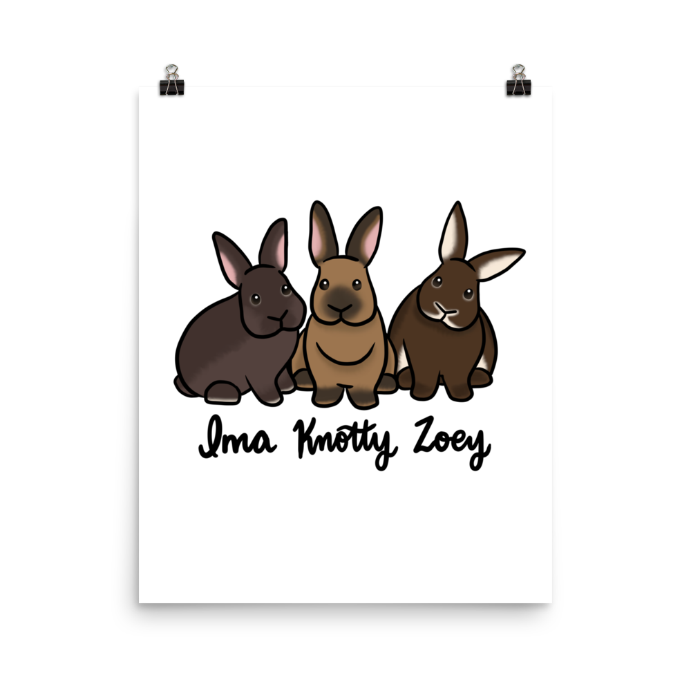 Ima Knotty And Zoey Poster