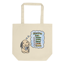 Bunny Grocery List Eco Tote Bag