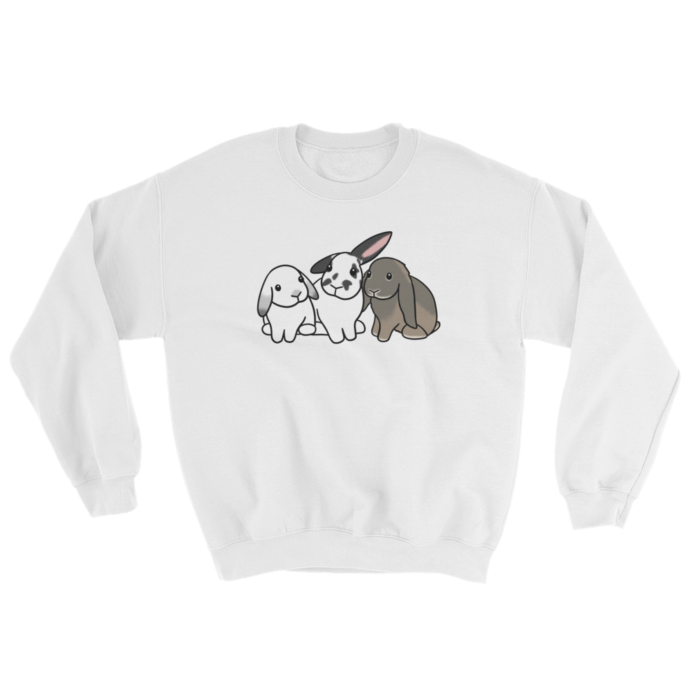Trio of Bunnies Sweatshirt