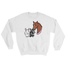 Horse and Two Bunnies Sweatshirt