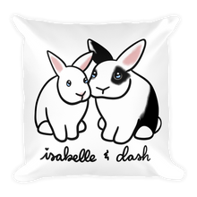 Isabelle and Dash Square Pillow
