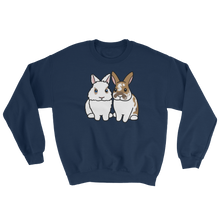 Two Fluffy Sitting Bunnies Sweatshirt