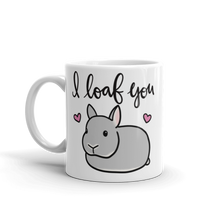 Netherland Dwarf I Loaf You Mug (Grey)