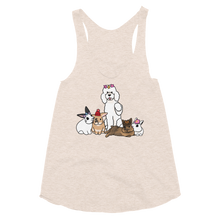 Poodle and Four Bunnies Women's Tank Top