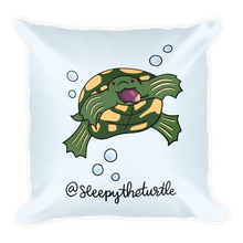 Sleepy The Turtle Square Pillow