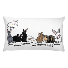 Foster Mom 8 Bunnies Rectangle Pillow