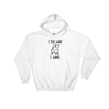 I Do What I Want Uppy Ear Hooded Sweatshirt