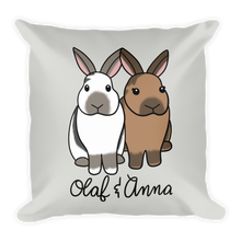 Olaf And Anna Square Pillow