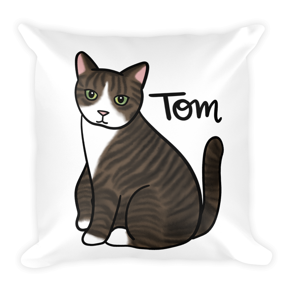 Tom the Cat Square Pillow