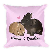 Winnie and Sunshine Square Pillow