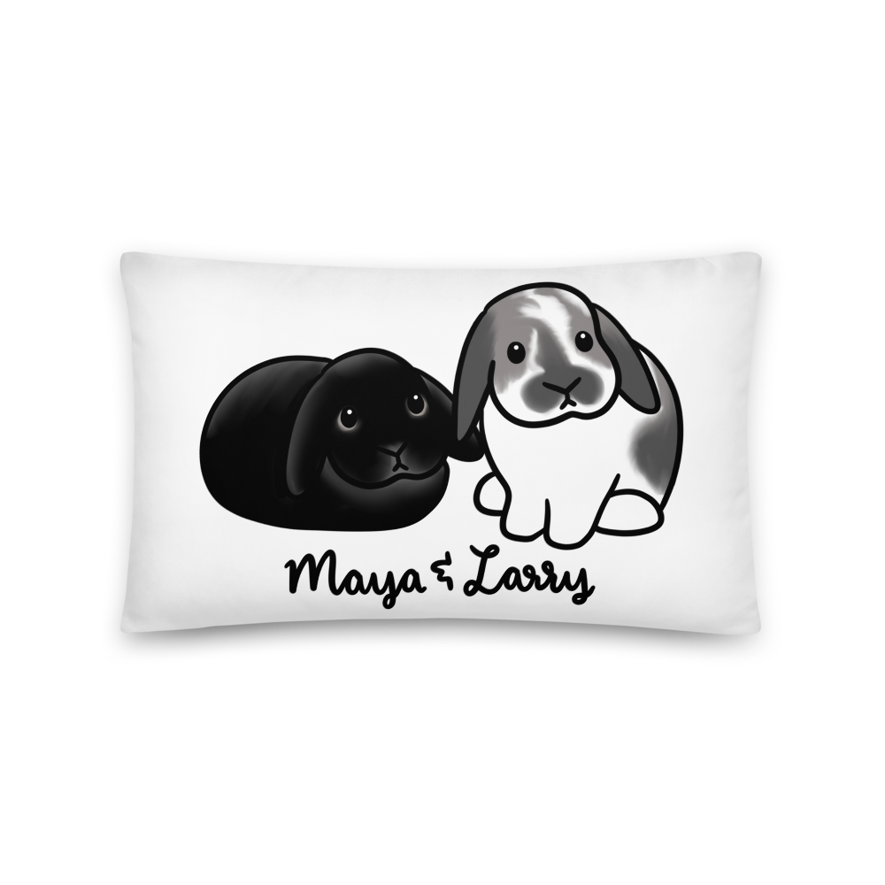 Maya and Larry Rectangular Pillow