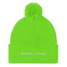 Bunnies Over People Pom-Pom Beanie