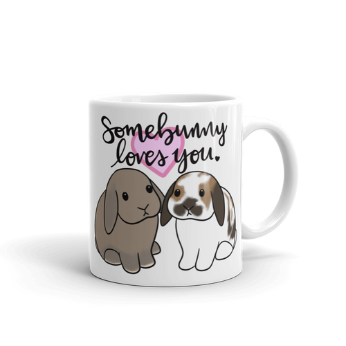 Blue Tort and White Brown Lop Mug