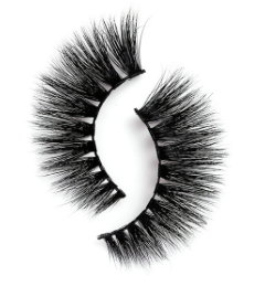 3D mink lashes in the style Faith by Peridot Cosmetics