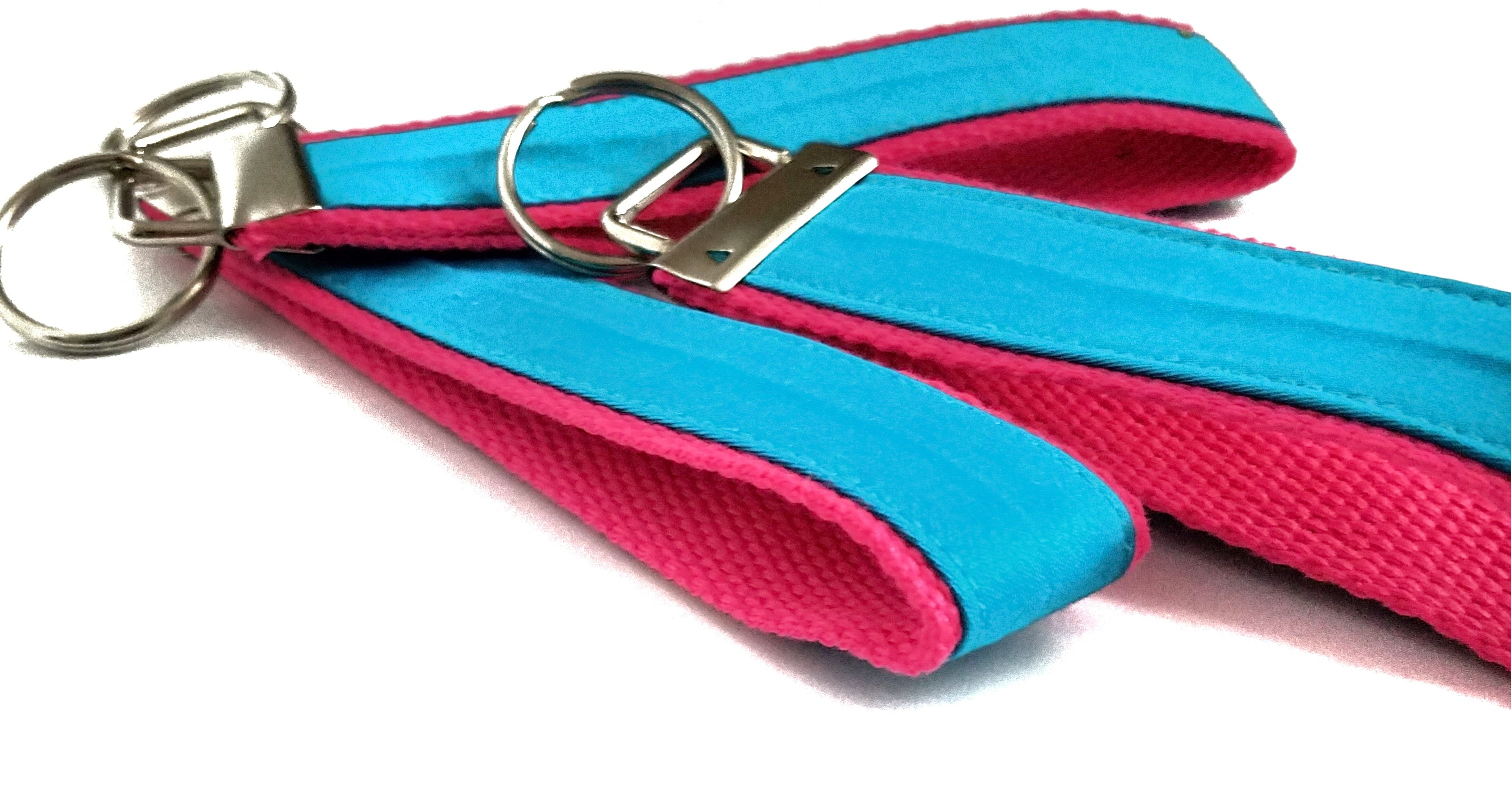 Pink and Blue Key Fob