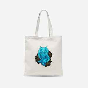 Blue Demon Girl By Heather Taylor Tote Bag