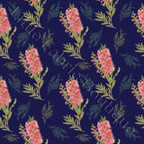 Bottlebrush Navy - Woven Cotton
