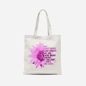 Breast Cancer Awareness Sunflower Tote Bag