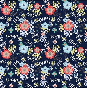 Abbreviation Floral - Woven Cotton