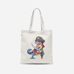 Dino Pirate Tote Bag