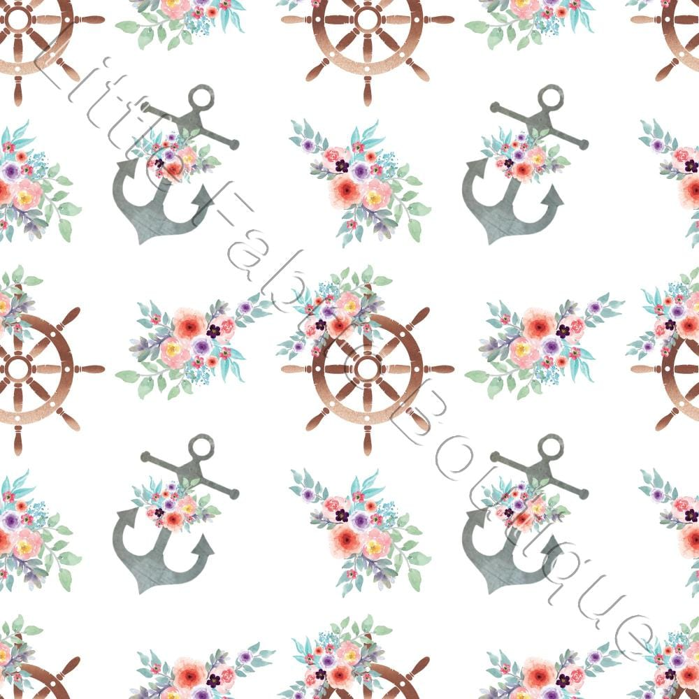 Pre-Order Floral Anchors White