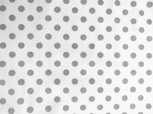 Grey Polka Dots On White | Cheap Online Fabric Australia