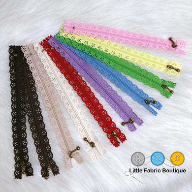 Lace Edge Zippers