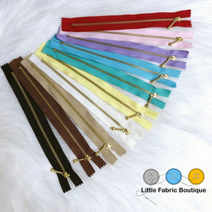 Brass Teeth Zippers | Best Online Fabric Store Australia