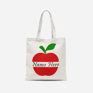 Personalised Apple Tote Bag