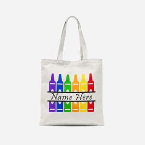 Personalised Crayon Tote Bag