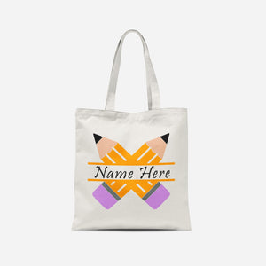 Personalised Cross Pencils Tote Bag