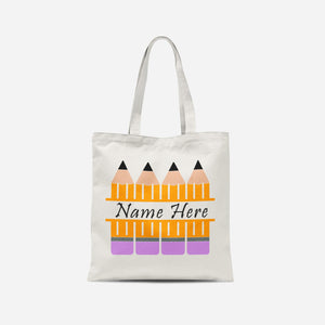 Personalised Pencils Tote Bag