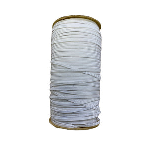 3mm White Braided Elastic | Online Fabric Shops Australia